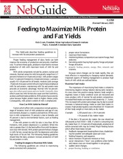 Feeding to Maximize Milk Protein and Fat Yields-2