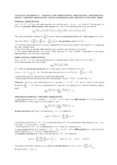 Handout 8 on Differentiability Concepts of Functions of Several Real Variables