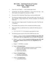 Bus 168A Study Guide - Midterm (Winter 2015)