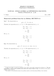homework set 20-Solutions