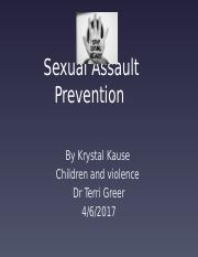 Sexual abuse prevention .pptx