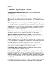 CRIM 481 Psychological Theories