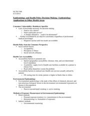 HLTH 3300 Health Policy Decision-Making Notes