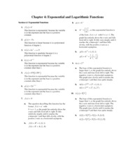 Exponential Functions Notes and Answers