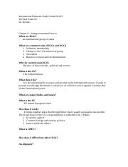 Exam Two Study Guide (International Relations).doc