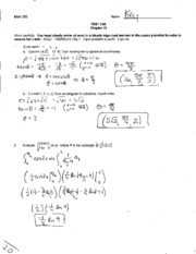 Chapter 15 Exam & Solution