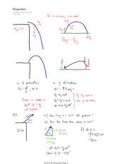 PHYS 11 Projectiles Notes
