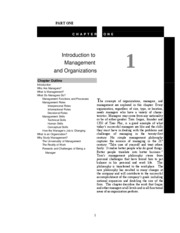 General Management (Memorandum - Chapter 1) Student