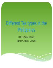 Chapter10_Different Tax Types in the Philippines