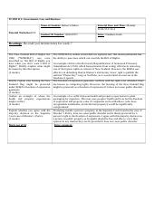 Tutorial Worksheet 5