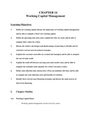 14-working capital management