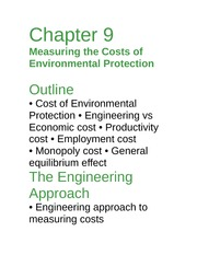 Econ 277notes-ch9-cost of enviromental protection