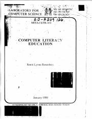 Computer literacy 1989