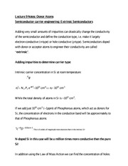 Lecture 9 Notes Donor Atoms