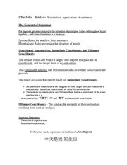Chinese+160_Chapter+5_Syntax+_1.+hierarchical+orgnization+of+sentences_