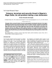 VIOLENCE, TERRORISM AND SECURITY THREAT IN NIGERIA'S NIGER DELTA.pdf