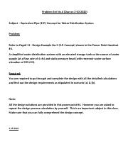Problem SET#6 - Equivqlent Pipe (E.P.) for Water Distribution System Design (due on 3_03_2020).docx