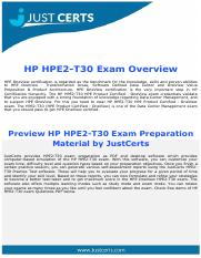HPE2-T30 HPE Product Certified - OneView [2016] Exam Dumps