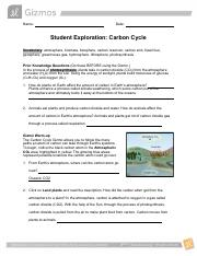 18 CarbonCycle B.docx - Student Exploration Carbon Cycle ...