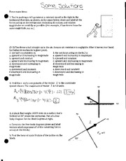 Sample Force Exam Solutions