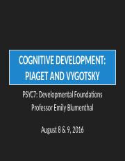 PSYC7SSII2016_Lecture5&6_CogDev-PiagetVygotsky_ForClass