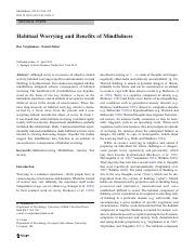 habitual worrying and mindfulness.pdf