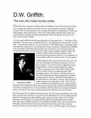 DW Griffith
