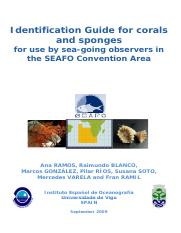 SEAFO Sponges and Coral Guide Ramos et al 2009SEAFOFINAL