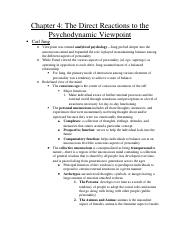 Psychology Notes-Chapter 4