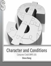 Chapter 3 - Character of the Borrower and Market Conditions(2)