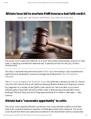 Allstate loses bid to overturn $14M ins...ad faith verdict | PropertyCasualty360.pdf