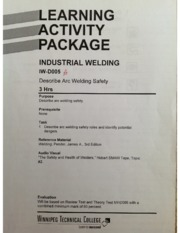 Describe arc welding safety notes