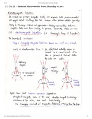 Induced Electromotive Notes