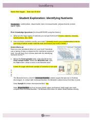 IdentifyingNutrientsSE - Name Bob Sagget Date Student ...