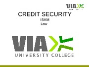 Credit security