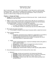 Quiz 4 Review Sheet
