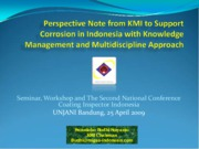 Perspective Note from KMI to Support Corrosion in Indonesia