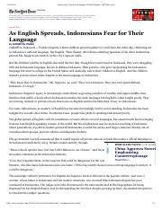 Indonesians' Focus on Language Is Often English - NYTimes.pdf