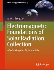 (Green Energy and Technology) Alan J. Sangster (auth.)-Electromagnetic Foundations of Solar Radiatio