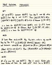 Homework F Solutions on Abstract Algebra