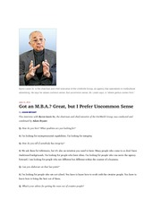 mba or common sense june 11 2011