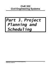 Student Version of CIVE 332 Course Notes - Part 3 Scheduling v5.pdf