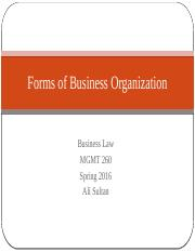 Forms+of+Business+Organization_Business+Law_Spring+2016_AS.pptx