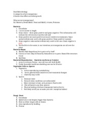 Food Microbiology Notes