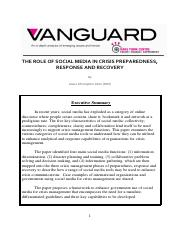 The role of Social media in crisis preparedness, response and recovery.pdf