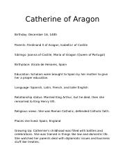 Catherine of Aragon.docx