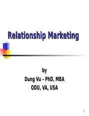 Relationship Marketing Review