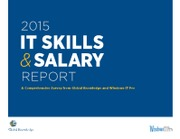 2015 IT Skills and Salary Report