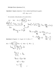 Math 1300 Solutions Midterm 1