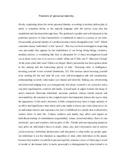 Problem of personal identity (  philosophy) (1).docx